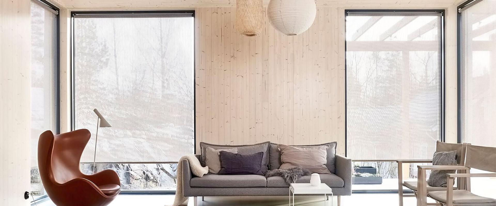 Laadukkaat Woodnotes design kaihtimet ja verhot - Lempäälän Kaihdin